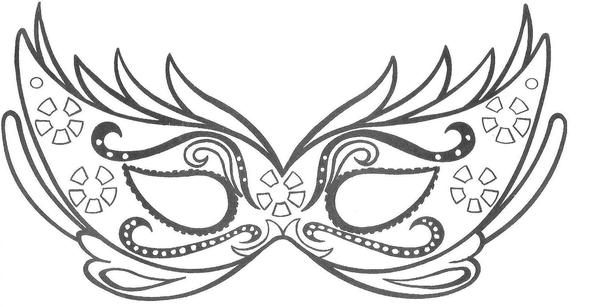 Mascara De Carnaval image - vector clip art online, royalty free ...